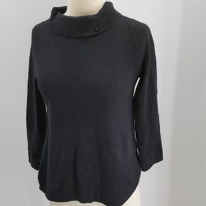 J. Crew Gustoso bl cashmere pullover sweater-sz S